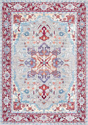 Nuloom Persian Medallion Caterina Brick Area Rug