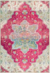 Nuloom Santos Floral Medallion Pink Area Rug