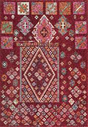 Nuloom Tyesha Tribal Diamonds Red Area Rug