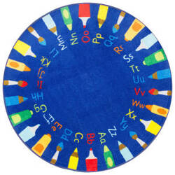 Nuloom Rainbow Alphabet Blue Area Rug