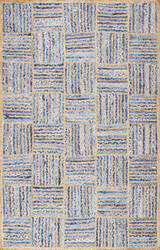 Nuloom Hand Braided Elva Jute Blue Area Rug