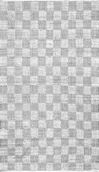 Nuloom Zofia Braided Checkerboard Ivory Area Rug