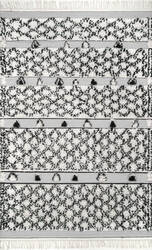 Nuloom Hand Knotted Yelena Trellis Silver Area Rug
