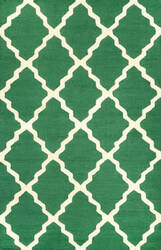 Nuloom Hand Hooked Marrakech Trellis Emerald Area Rug