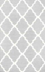 Nuloom Hand Hooked Marrakech Trellis Light Grey Area Rug