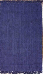 Nuloom Hand Woven Chunky Loop Navy Blue Area Rug