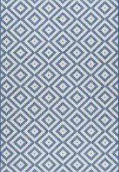 Nuloom Marybelle Tribal Diamond Blue Area Rug