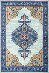 Nuloom Vintage Tamesha Medallion Light Blue Area Rug