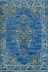 Nuloom Vintage Tamesha Medallion Blue Area Rug