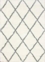 Nuloom Machine Made Diamond Shag Grey Area Rug