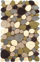 Nuloom Hand Tufted Pebbles Brown Area Rug