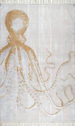 Nuloom Thomas Paul Metallic Octopus Ivory Area Rug