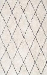 Nuloom Sheba Cotton Diamond Ivory Area Rug
