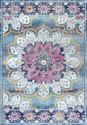 Nuloom Vintage Floral Kiyoko Turquoise Area Rug