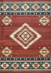 Nuloom Tribal Diamond Margene Red Area Rug