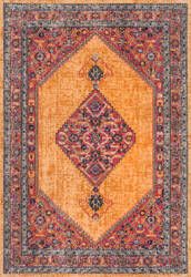 Nuloom Vintage Medallion Dortha Orange Area Rug