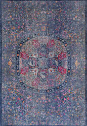 Nuloom Celina Floral Mandala Navy Area Rug