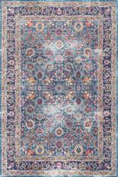 Nuloom Vintage Persian Floral Isela Blue Area Rug