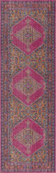 Nuloom Vintage Bordered Medallion Adame Pink Area Rug