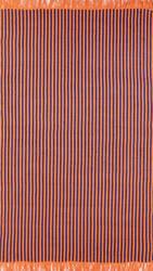 Nuloom Flatweave Striped Eula Blue Area Rug