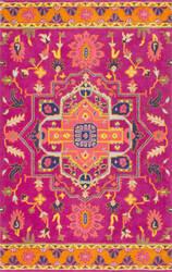 Nuloom Floral Medallion Ardith Magenta Area Rug