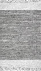 Nuloom Handmade Otha Tassel Grey Area Rug