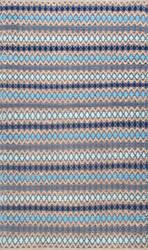 Nuloom Ellamae Diamond Chevron Blue Area Rug