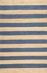 Nuloom Flatweave Alisia Stripes Denim Area Rug
