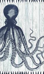 Nuloom Thomas Paul Flatweave Octopus Ivory Area Rug
