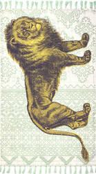 Nuloom Thomas Paul Flatweave Lion Light Green Area Rug
