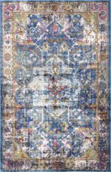 Nuloom Lolita Vintage Medallion Blue Area Rug