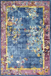 Nuloom Nia Floral Chinese Blue Area Rug