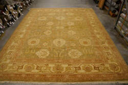 Org Antique Repro Sm-600 Pale Green - Lemon Area Rug