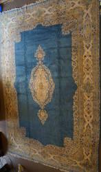ORG Kerman Floral Blues Area Rug