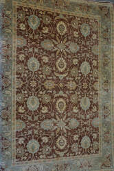 ORG Peshawar Ult-Tab Brown - Green Area Rug