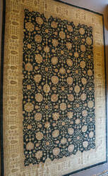 ORG Peshawar Ult-110 Black And Beige Area Rug