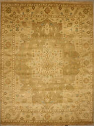 ORG Indo-Peshawar D-122 Light Brown Area Rug