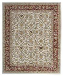 ORG Peshawar Tufted D-411 Ivory-Rust Area Rug