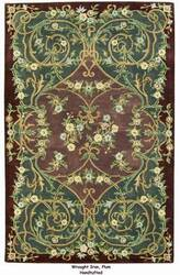 ORG Handtufted Wrought Iron Plum Area Rug