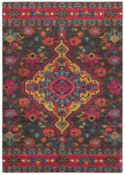 Oriental Weavers Bohemian 8222d Charcoal - Pink Area Rug