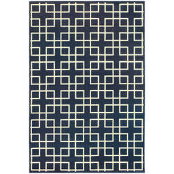 Oriental Weavers Ellerson 6140b Navy Area Rug