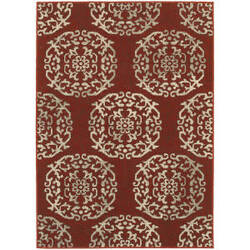 Oriental Weavers Highlands 6672b Red Area Rug