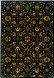 Oriental Weavers Hudson 3299b Black/Brown Area Rug