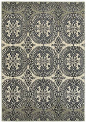 Oriental Weavers Linden 7818a Navy - Ivory Area Rug