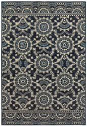 Oriental Weavers Linden 7842a Navy - Grey Area Rug