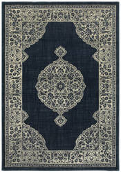 Oriental Weavers Linden 7937a Navy - Grey Area Rug