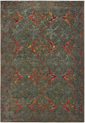 Oriental Weavers Mantra 5502d Grey - Red Area Rug