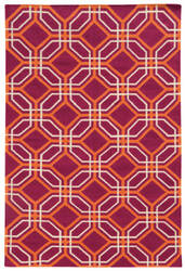 PANTONE UNIVERSE Matrix 4722g Pink/ Orange Area Rug