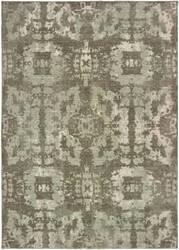 Oriental Weavers Montage 4928e Grey - Green Area Rug