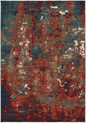 Oriental Weavers Montage 5502c Blue - Red Area Rug